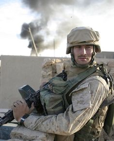 US Marine from 3rd Battalion 6th Marines during Operation Steel Curtain in Husaybah, Iraq, 2005. - - - FOLLOW @modernwarfootage - - -… Usmc, Marines, Steel Curtain, Us Marine Corps, Military History, War, Warriors