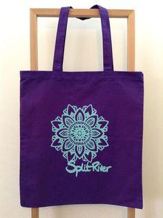 SPLIT RIVER - MANDALA  PURPLE - Tote  100% cotton canvas - 15 x 16  $10.00 + $.5.00 Shipping