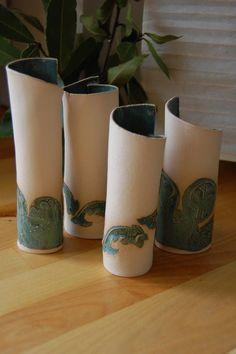 Bud vases. Green Valnut ceramics