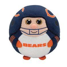 Ty NFL Chicago Bears Football Beanie Ballz Babies Balls Stuffed Plush Toy