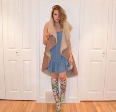 Twenty Six - Check it out! Faux Fur Vests, Winter Dresses, The Twenties, Duster Coat, Personal Style, Kimono Top, Key, Check, How To Wear