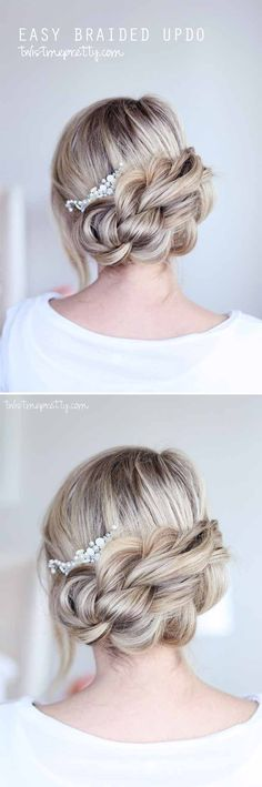 Wedding Hairstyles for Long Hair - Headpiece on Hairstyle for Long Hair - Looking For The Perfect Updo Or Half Up For Your Wedding Day? I've Covered My Favorite DIY And Professional Hairstyles For Long Hair With Amazing To The Side Looks, Styles With Braids, And How To Work With Veil And With Flowers In Your Hair. Great Step By Step Tutorials For A Bridesmaid Look And Some Simple And Elegant Ideas For A Vintage Wedding As Well. Great Looks For Blondes And #weddinghairstyles