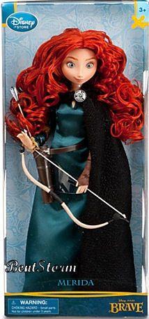 "NEW 11"" Disney Store BRAVE Movie Princess Merida Classic Barbie Doll Bow Arrow"