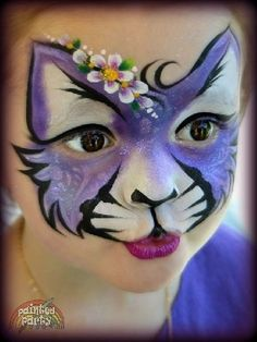 Face painting examples are very useful in the art of face painting. One of the greatest things about face painting examples, is that there are many reference Face Painting Tutorials, Face Painting Designs, Paint Designs, Girl Face Painting, Belly Painting, Tole Painting, Kitty Face Paint, Cat Face, Cheeta Face Paint