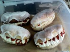 Iced Fingers with fresh cream and jam