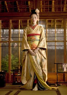 Memoirs of a Geisha: Creme and Champagne Silk Kimono, by costume designer Colleen Atwood