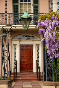 Ornate Entry at Springtime, Edmondston-Alston House, Charleston, SC © Doug Hickok All Rights Reserved hue and eye the peacock's hiccup