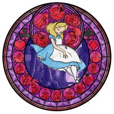 ***Looking for the artist so they get credit.. anyone know?*** Alice's Stained Glass Window