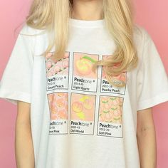 PeachTone T-Shirt – Boogzel Apparel Aesthetic T Shirts, Aesthetic Clothes, Ropa Color Pastel, Photo Proof, Kawaii Clothes, Shirt Designs, Cute Outfits, Peach, T Shirts For Women