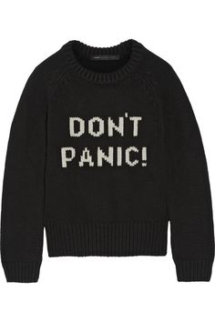 Marc by Marc Jacobs - Intarsia merino wool sweater from NET-A-PORTER