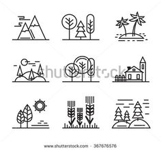 Stock Images similar to ID 384991879 - nature landscape icons