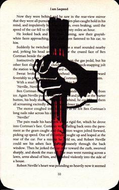 I Am Legend Printed Illustration on Page from Novel, via Etsy.