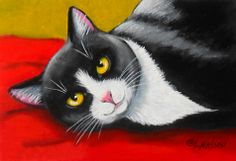 """Tuxedo Cat Sweet and Playful"" par Lisa Nelson"