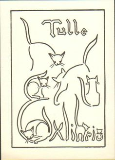 Ex libris with cats
