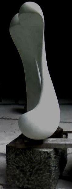 Leopoldino de Abreu #Sculpture - Brasilian White Marble 2008