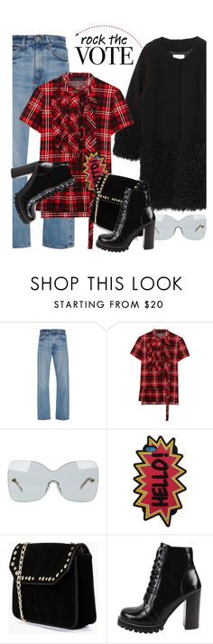 """""""Rock the Vote in Style"""" by hamaly ❤ liked on Polyvore featuring Jael, Brock Collection, Marc Jacobs, Fendi, MANGO, Boohoo, Jeffrey Campbell and rockthevote"""