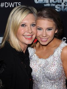 Actress/singer Olivia Newton-John and actress/ wildlife conservationist Bindi Irwin attend 'Dancing with the Stars' Season 21 at CBS Televison City on October 2015 in Los Angeles, California. Get premium, high resolution news photos at Getty Images Stock Pictures, Stock Photos, Bindi Irwin, Olivia Newton John, Oscar Winners, Dancing With The Stars, Royalty Free Photos, Singer, Actresses