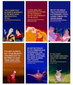 disney quotes...not bad quotes to get tattoos of either...