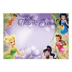 Tinker Bell and Friends Thank You Cards