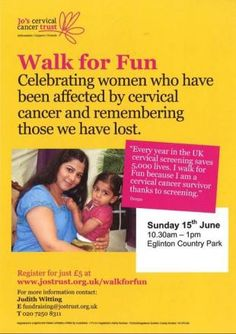 Join Walk for Fun in Ayrshire and take steps to prevent cervical cancer (From Ardrossan and Saltcoats Herald)