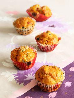 Muffins ou cakes salés au chorizo et aux olives => comment les faire sans viande ni fromage ?