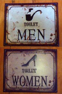 restaurant vintage 29 Ideas For Bath Room Signs Restaurant Vintage Restaurant Vintage, Restaurant Design, Bathroom Door Sign, Latest Bathroom Designs, Restaurant Bathroom, Hapy Day, Vintage Interior Design, Room Tiles, Vintage Bathrooms