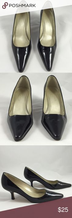 Talbots Black Patent Leather Heels Size 6M 🎀 Good pre-loved condition 💗 Talbots Shoes Heels