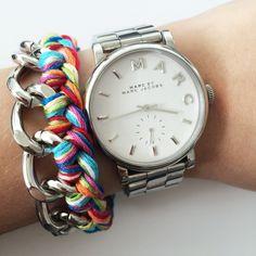 Multicolor chain bracelet by Angélica