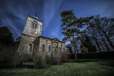 https://flic.kr/p/Re7E9t | Gayhurst Church | Gayhurst Church at night. Brian Tomlinson Photography: www.bt-photography.co.uk