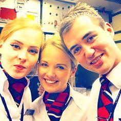 Flying with my girls #flying #club #girls #boy #beautiful #flightattendant #cabincrew #crewlife #crewfie #love #life #galley #boeing #777