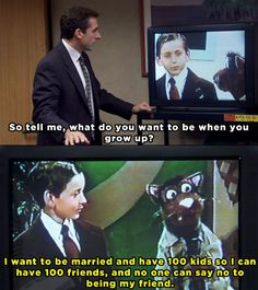 Michael...weird.