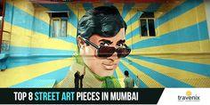In Mumbai, Street Art, Art Pieces, Sari, Movies, Movie Posters, Saree, Film Poster, Artworks