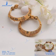 Beautiful Bangles for beautiful Lady. Get in touch with us on Gold Bangles Design, Gold Jewellery Design, Designer Jewellery, Gold Jewelry Simple, Nice Jewelry, Silver Jewelry, Gold Mangalsutra Designs, Gold Fashion, Bridal Jewelry