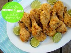 Crunchy Coconut and Lime Chicken Drumsticks