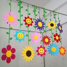 Fleurs à suspendre