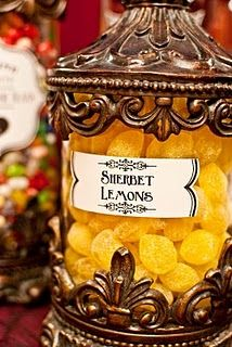Lemon Drops = Dumbledore's favorite: Sherbet Lemons