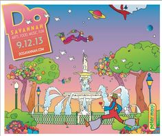 Cover of DoSavannah, Sept. 12, 2013. Designed by Peter Max.