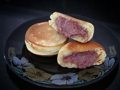 Ube Pancake Sandwiches Asian Cooking, Cooking Time, Ube Jam, Cooking Temperatures, Jam On, Bean Paste, Filipino Recipes, Pancakes, Sandwiches