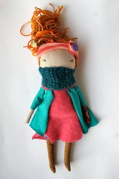 autumn blond pixie girl little lu 13ish doll by humbletoys Bohemian Doll Etsy
