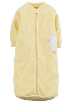 Carter's Yellow Applique Fleece Sleepsuit Sleepsack (0-9 Months)
