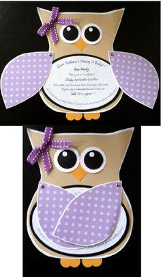 Owl invitation for New Beginnings