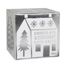 Chocolate Coconut Bath Salts 100g bath salt by Bath House by Bath House. $6.00. Please read all label information on delivery.. Country of origin: England. 100g bath salt. Handmade in Great Britain using the finest sea salt and delicious fragrance. Add a spoonful to a bath to soften and scent the water. With 97% natural ingredients.