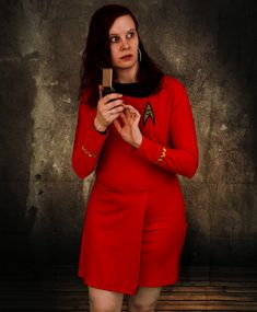 """""""Beam me up...NOW!"""" (From our Star Trek sessions) Model: Linda Photo: Janne"""