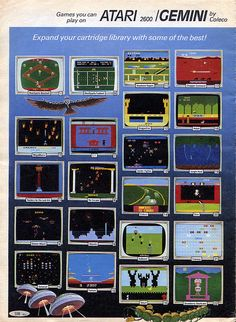 80's Atari game selection