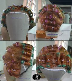 Pictorial Guide to Using Rollers - Part 3 What To Do With It All - Custom Wig CompanyCustom Wig Company Wig Styles, Short Hair Styles, Vintage Hairstyles, Cool Hairstyles, Marcel Waves, Wig Companies, Pin Up Hair, Playing With Hair, Roller Set