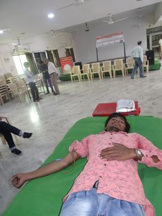 Blood Donation Camp At Amroli College 17-02-2016