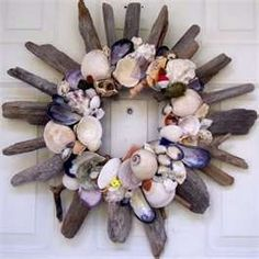 Great idea!  Shells and driftwood @Lauren Davison Davison Cartwright I think we need to have a driftwood party