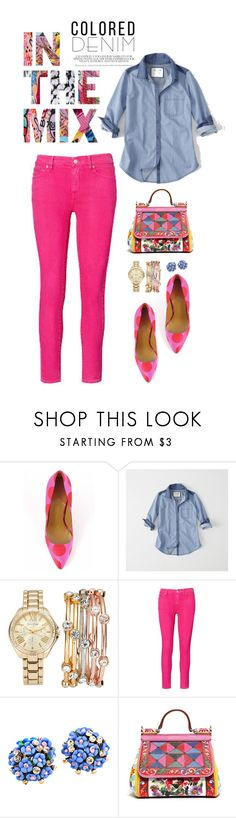 """""""Spring Trend: Colored Denim"""" by shortyluv718 ❤ liked on Polyvore featuring Paul Smith, Abercrombie & Fitch, Jessica Carlyle, Ralph Lauren, Dolce&Gabbana and coloredjeans"""