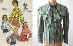 Ascot Blouses | Gorgeous 70's Fashion Trends you Can Wear Today! Vintage Fashion Tips and Ideas.