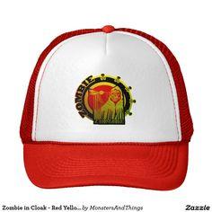 Zombie in Cloak - Red Yellow Sunburst Trucker Hat